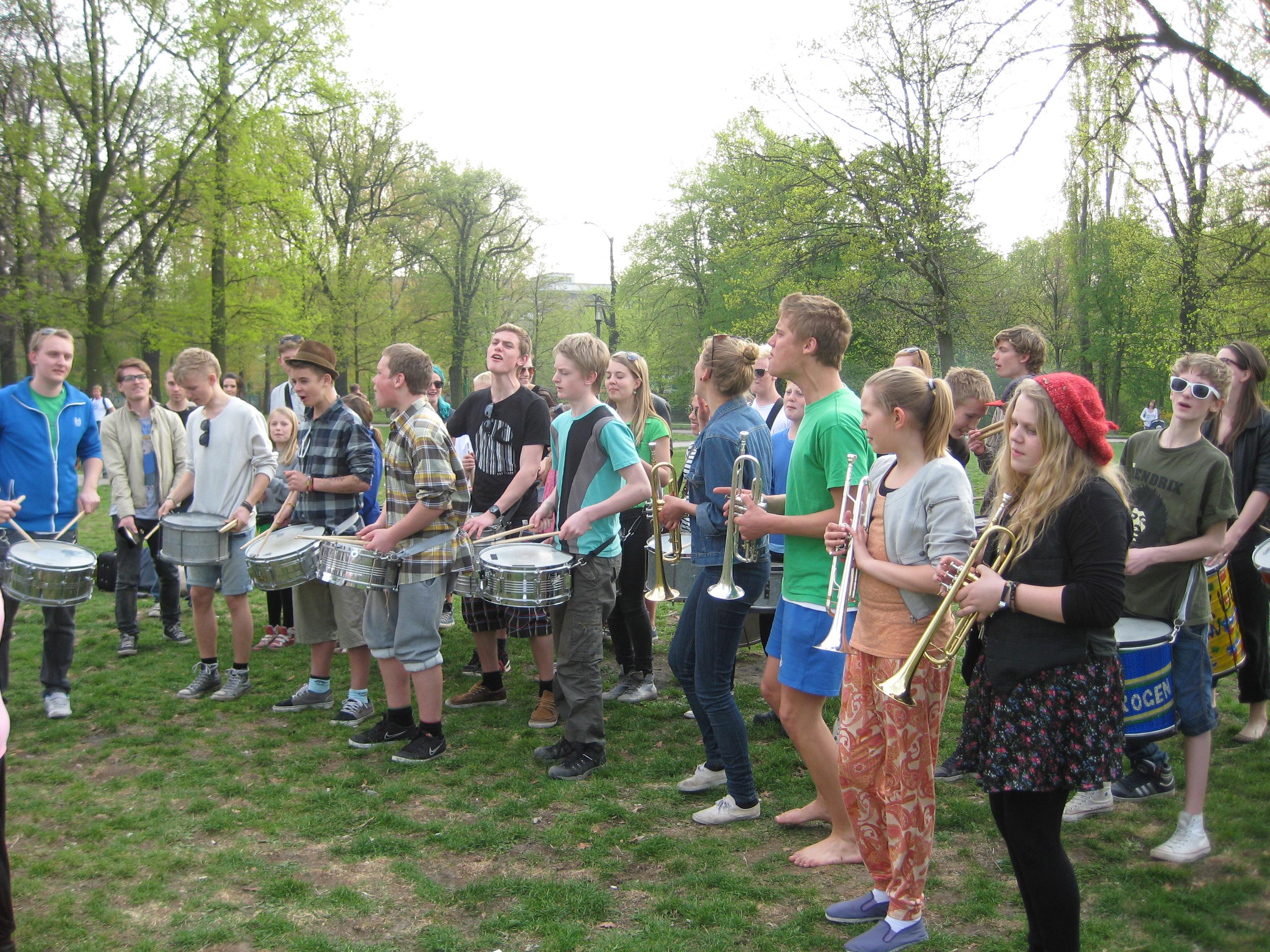 Samba i park i Berlin 2010